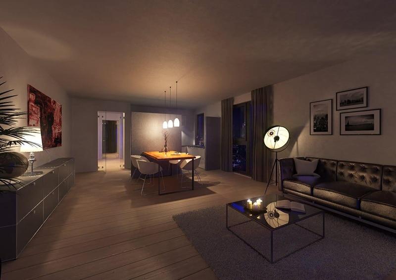 Beispiel einer Wohnung des Neubauprojekts Nützenberger Straße