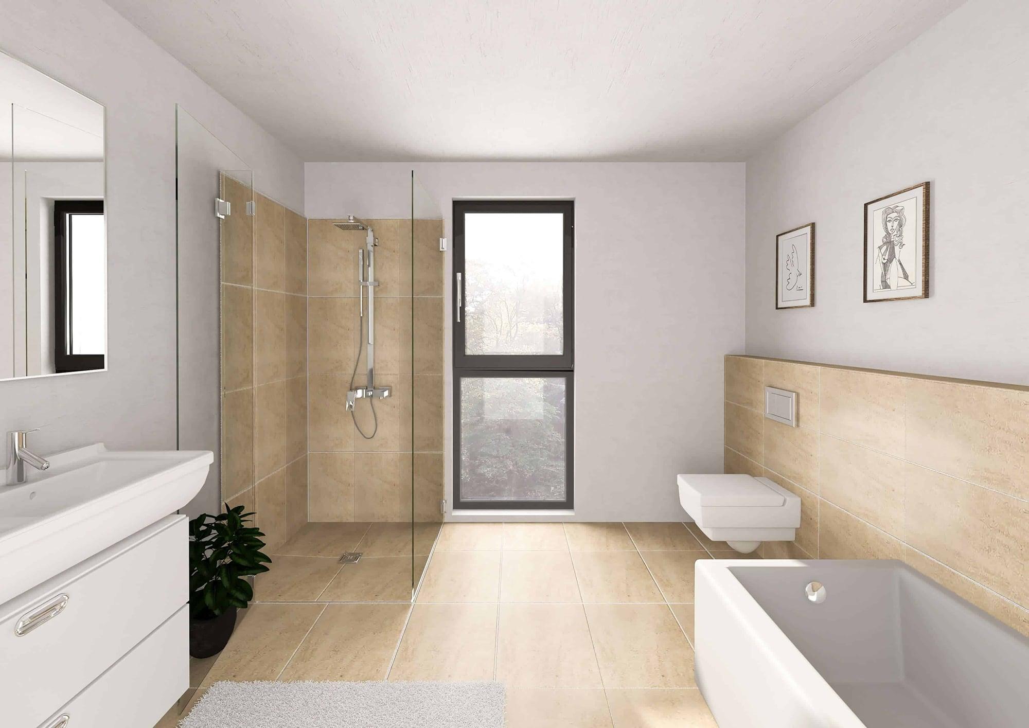 Neubauprojekte Beispiel Badezimmer Nützenberger Straße