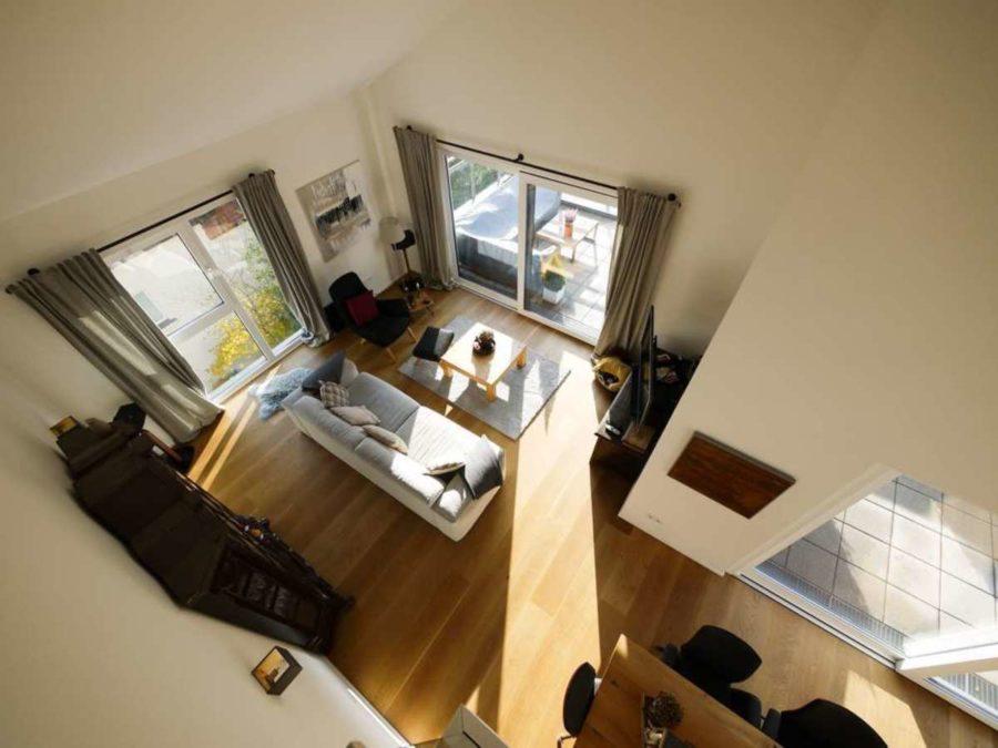 Penthouse in priviligierter Wohn- und Sonnenlage! - Blick ins Wohnzimmer