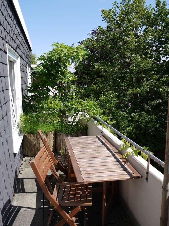 Briller Viertel - mit Blick über Wuppertal - großer Balkon